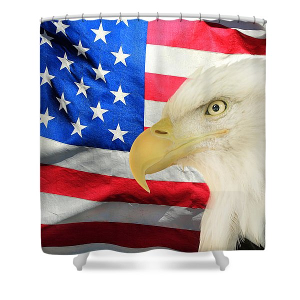 American Shower Curtain by Shane Bechler