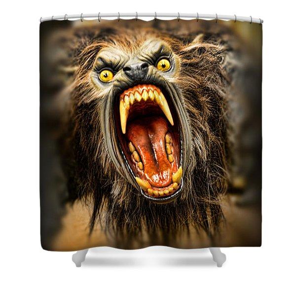 American Werewolf Shower Curtain by Paul Ward