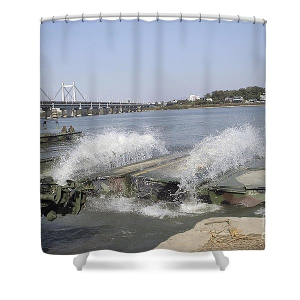 An Interior Bay Blooms Open Shower Curtain by Stocktrek Images