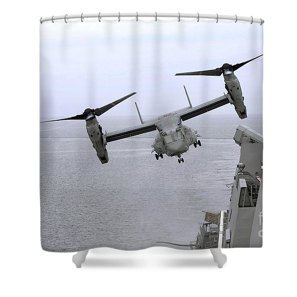 An Mv-22b Osprey Takes Shower Curtain by Stocktrek Images