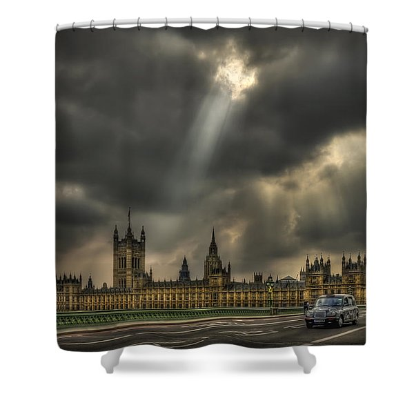 An Ode To England Shower Curtain by Evelina Kremsdorf