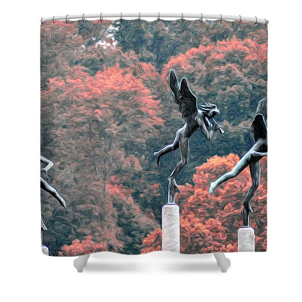 Angels Shower Curtain by Bill Cannon