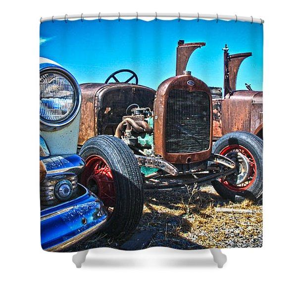 Antique Auto Sales Shower Curtain by Steve McKinzie