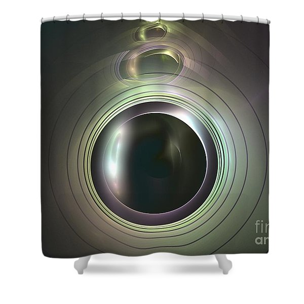 Aperture Shower Curtain by Kim Sy Ok