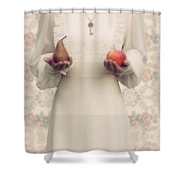 Apple And Pear Shower Curtain by Joana Kruse
