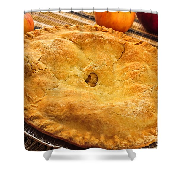 Apple Pie Shower Curtain by Elena Elisseeva