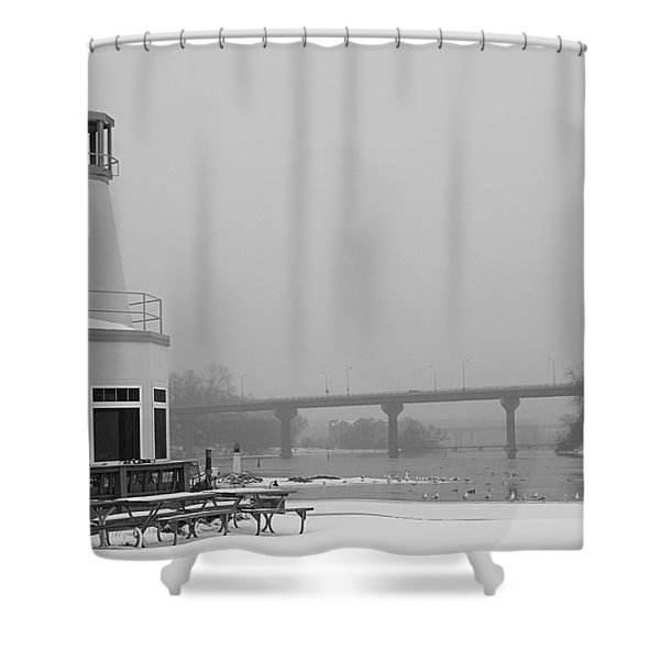 Appleton Yacht Club Shower Curtain by Joel Witmeyer