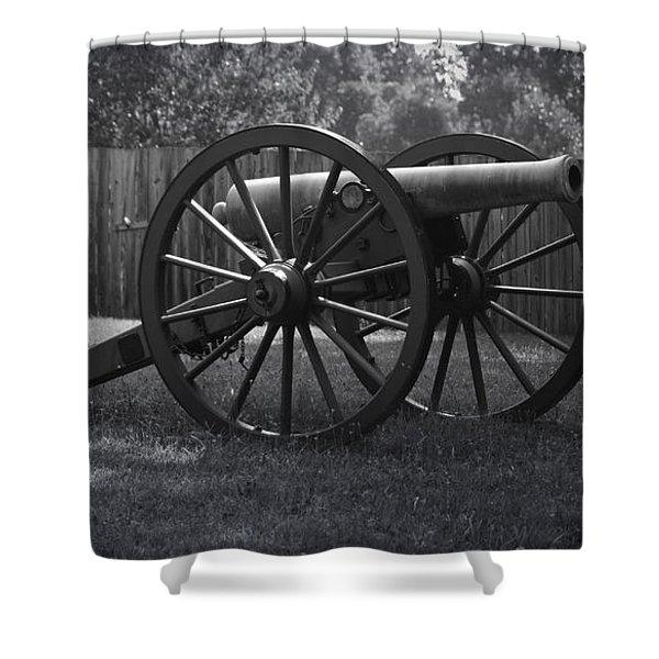 Appomattox Cannon Shower Curtain by Teresa Mucha