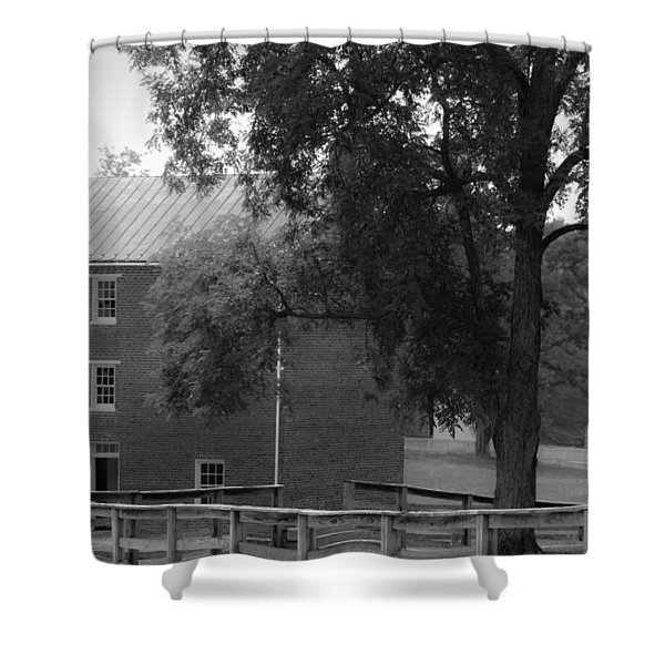 Appomatttox County Jail Virginia Shower Curtain by Teresa Mucha