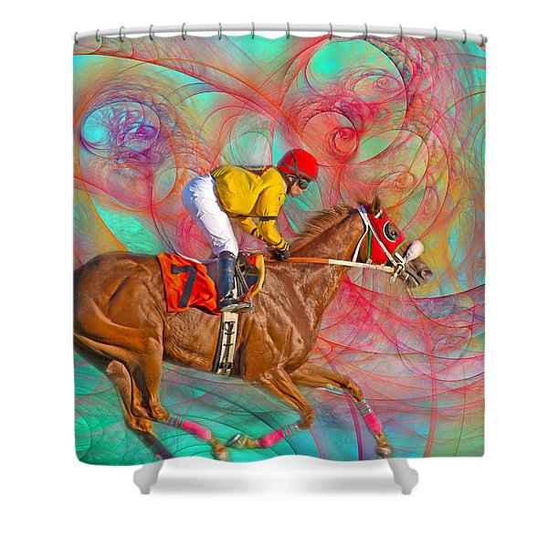 Around Us Shower Curtain by Betsy C  Knapp