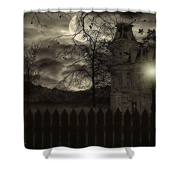 Arrival Shower Curtain by Lourry Legarde