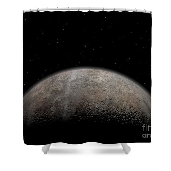 Artists Concept Of Pluto Shower Curtain by Walter Myers