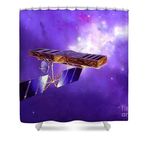Artists Concept Of Space Interferometry Shower Curtain by Stocktrek Images