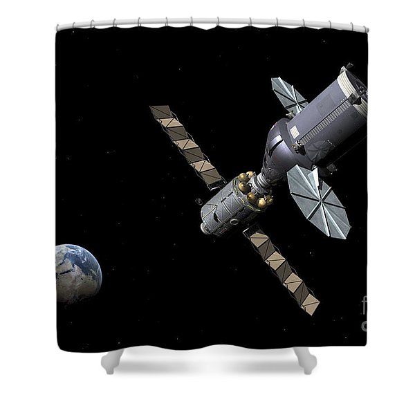 Artists Concept Of The Deep Space Shower Curtain by Walter Myers