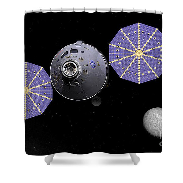Artists Concept Of The Next Generation Shower Curtain by Walter Myers