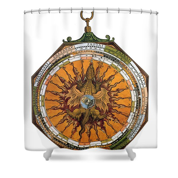 Astronomicum Caesareum With Dragon Shower Curtain by Photo Researchers