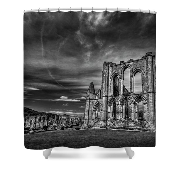 At The Dreamscape Ruins Shower Curtain by Evelina Kremsdorf