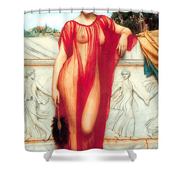 Athenais Shower Curtain by Sumit Mehndiratta