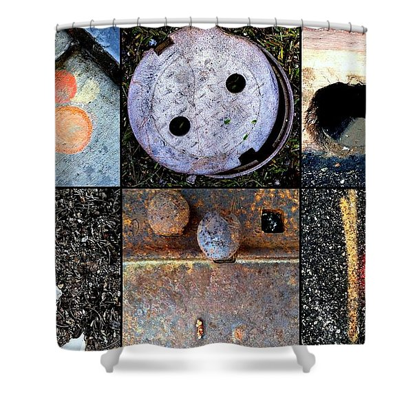 AU PAIR Shower Curtain by Marlene Burns