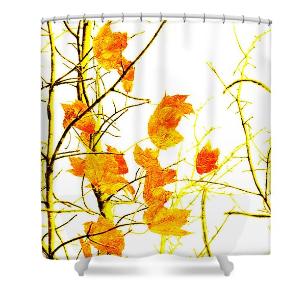 Autumn Leaves Abstract Shower Curtain by Andee Design