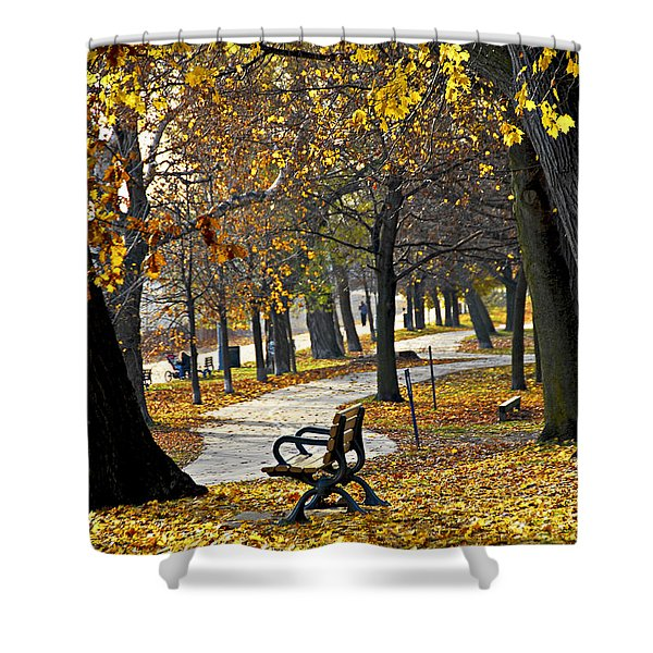 Autumn park in Toronto Shower Curtain by Elena Elisseeva