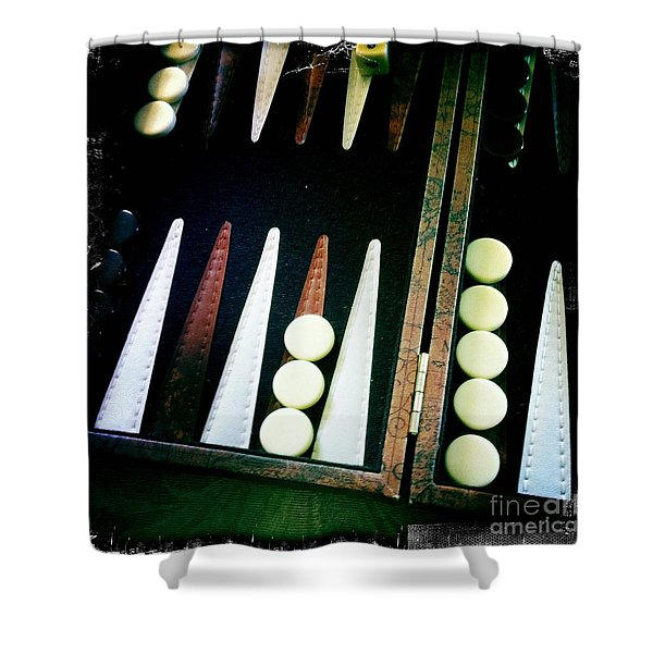 Backgammon Anyone Shower Curtain by Nina Prommer