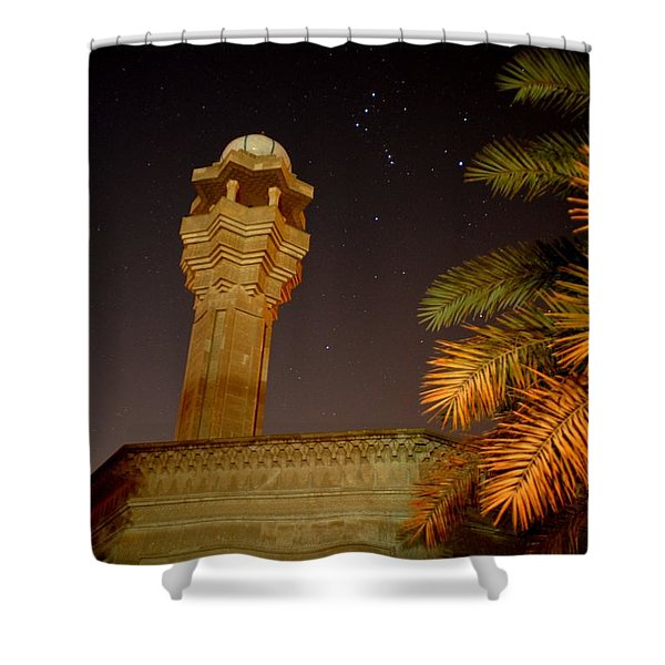 Baghdad Night Sky Shower Curtain by Rick Frost