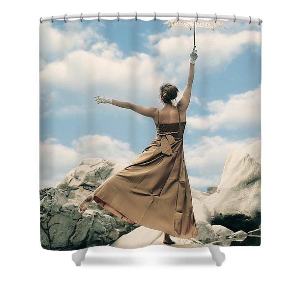 balance Shower Curtain by Joana Kruse