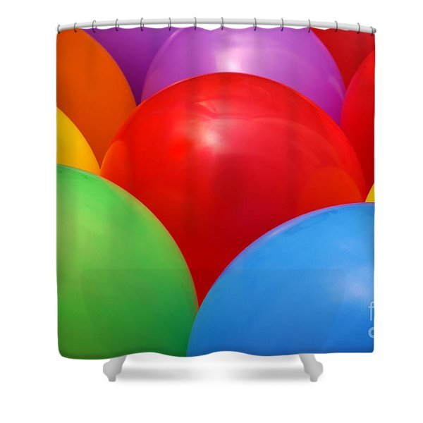 Balloons Background Shower Curtain by Carlos Caetano