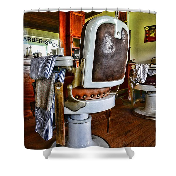 Barber - Barber Chair Shower Curtain by Paul Ward