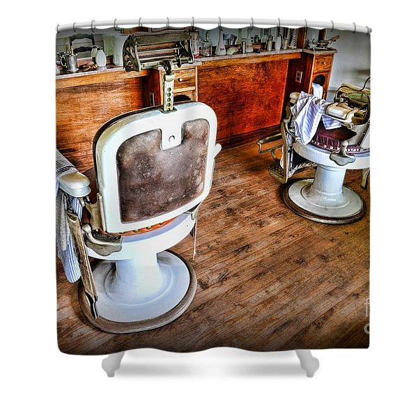 Barber - The Barber Shop 2 Shower Curtain by Paul Ward