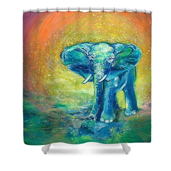 Bathe Me In Thy Light Shower Curtain by Ashleigh Dyan Bayer