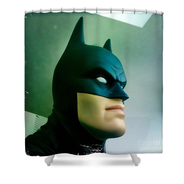 Batman aka The Dark Knight Shower Curtain by Nina Prommer
