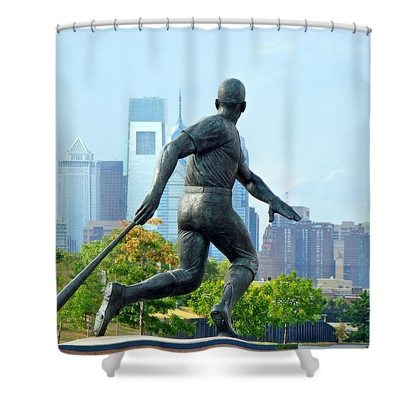 Batters City View Shower Curtain by Alice Gipson
