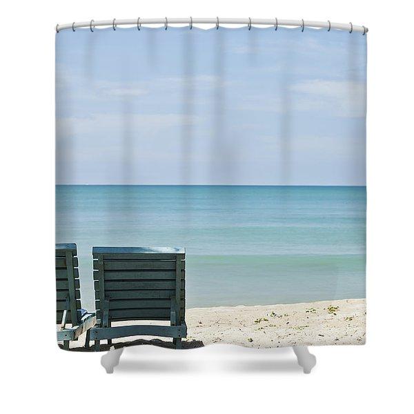 Beach Life Shower Curtain by Georgia Fowler