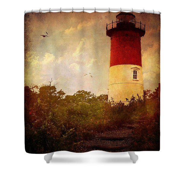 Beacon Of Hope Shower Curtain by Lianne Schneider