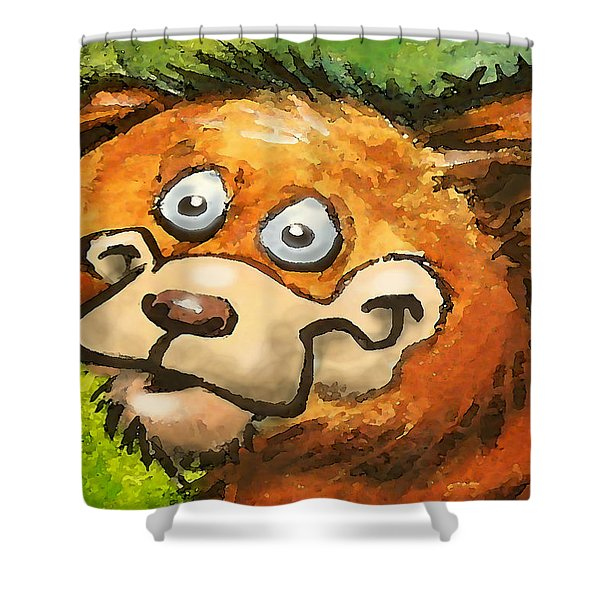 Bear Shower Curtain by Kevin Middleton