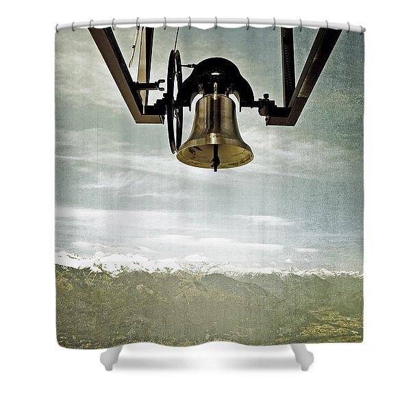 bell in heaven Shower Curtain by Joana Kruse