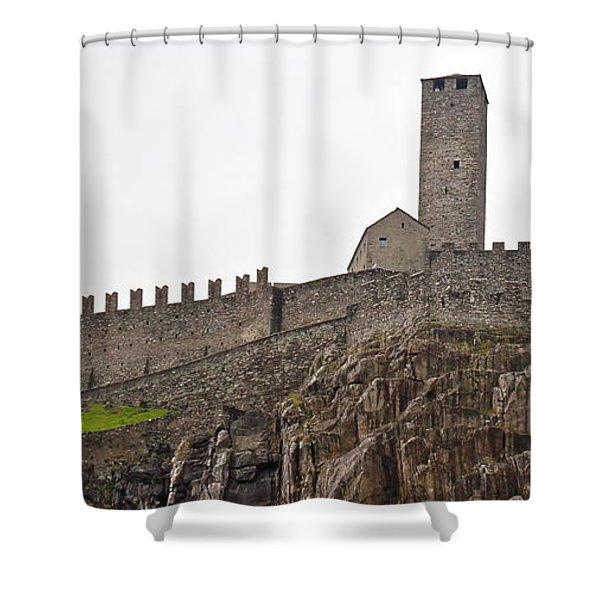 Bellinzona - Ticino Shower Curtain by Joana Kruse