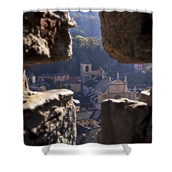 Bellinzona Shower Curtain by Joana Kruse