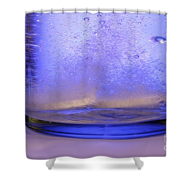 Bicarbonate Of Soda Dissolving In Water Shower Curtain by Photo Researchers, Inc.