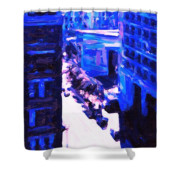 Big City Blues 2 Shower Curtain by Wingsdomain Art and Photography