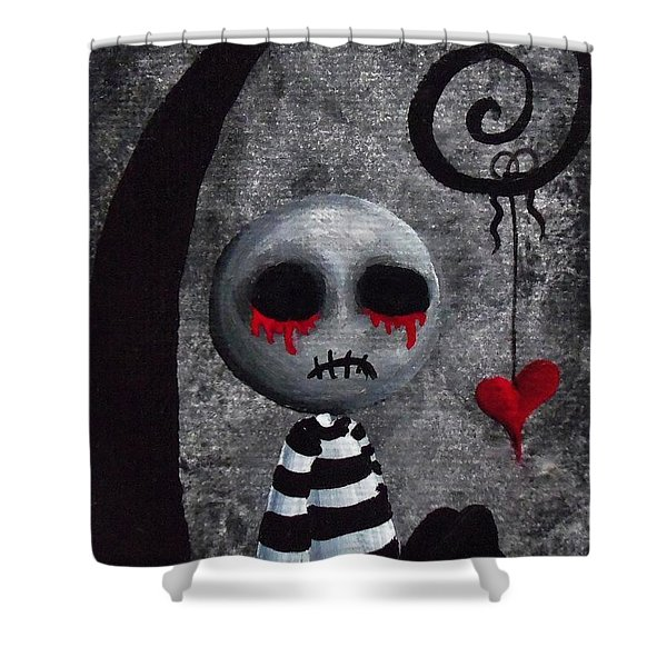 Big Juicy Tears Of Blood And Pain 2 Shower Curtain by Oddball Art Co by Lizzy Love