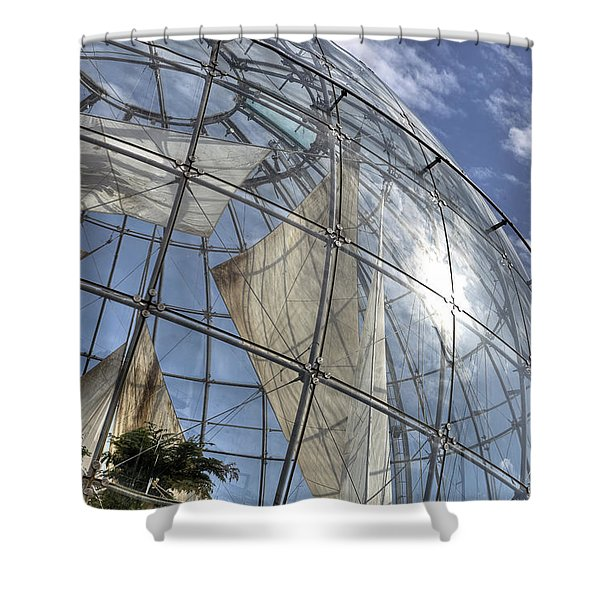 biosfera in Genoa Shower Curtain by Joana Kruse