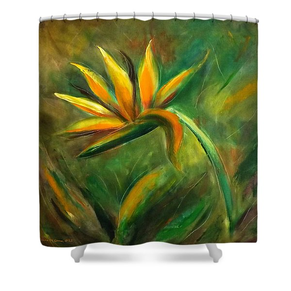 Shower Curtains - Bird of Paradise 88 Shower Curtain by Gina De Gorna