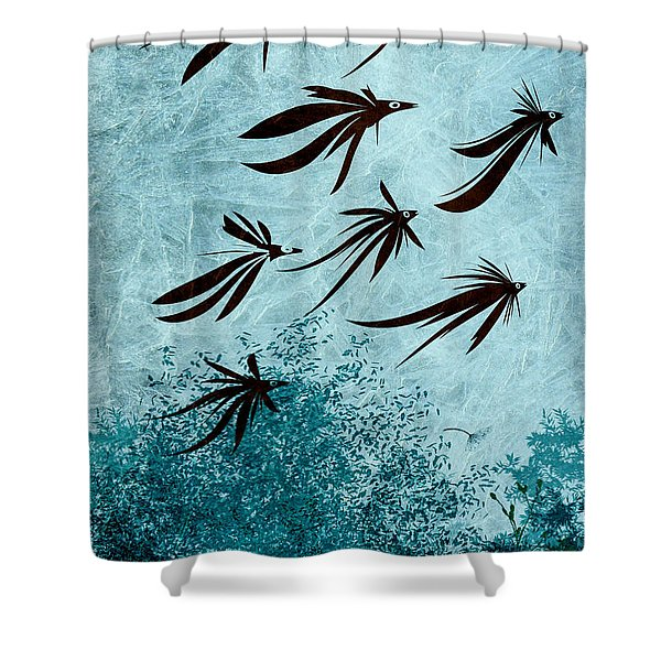 Birdeeze -v03 Shower Curtain by Variance Collections
