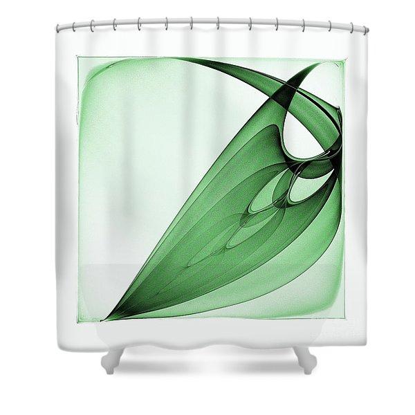 Bizarre Leaf Shower Curtain by Klara Acel