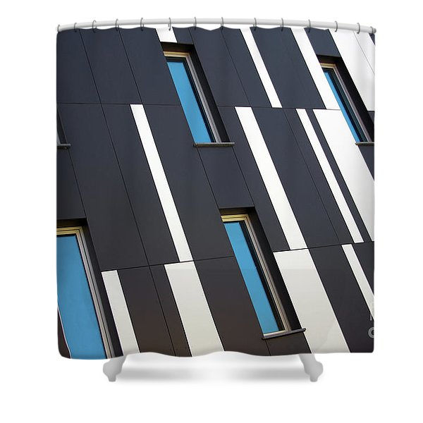 Black and White Shower Curtain by Carlos Caetano