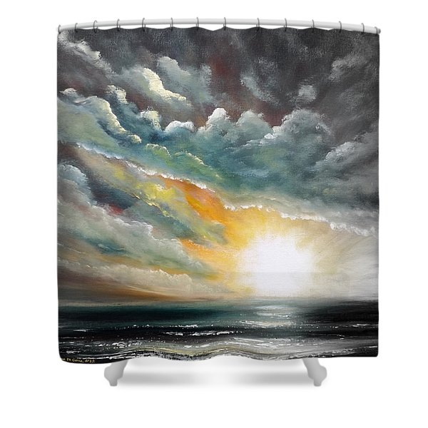 Shower Curtains - Blown Away - Square Painting Shower Curtain by Gina De Gorna