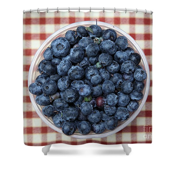 Blueberries - 5D17825 Shower Curtain by Wingsdomain Art and Photography